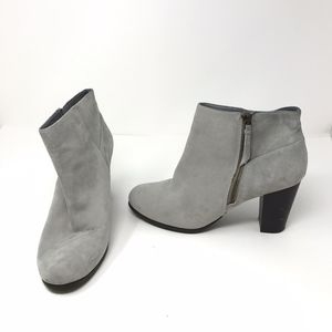 Cole Haan Davenport Ankle Heel Suede Booties Shoes